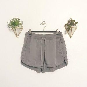 Grey Lululemon running shorts